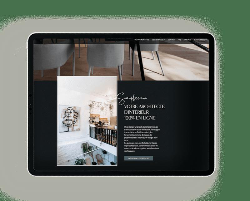 creation de site internet pour un architecte d'interieur