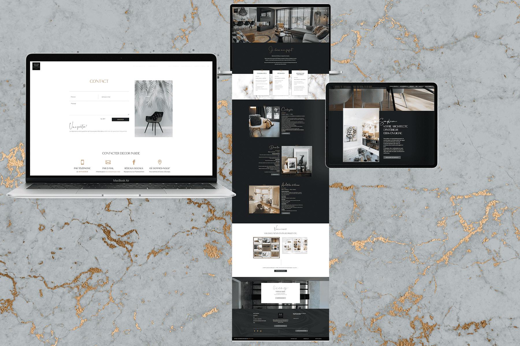 site internet architecte d'interieur responsive