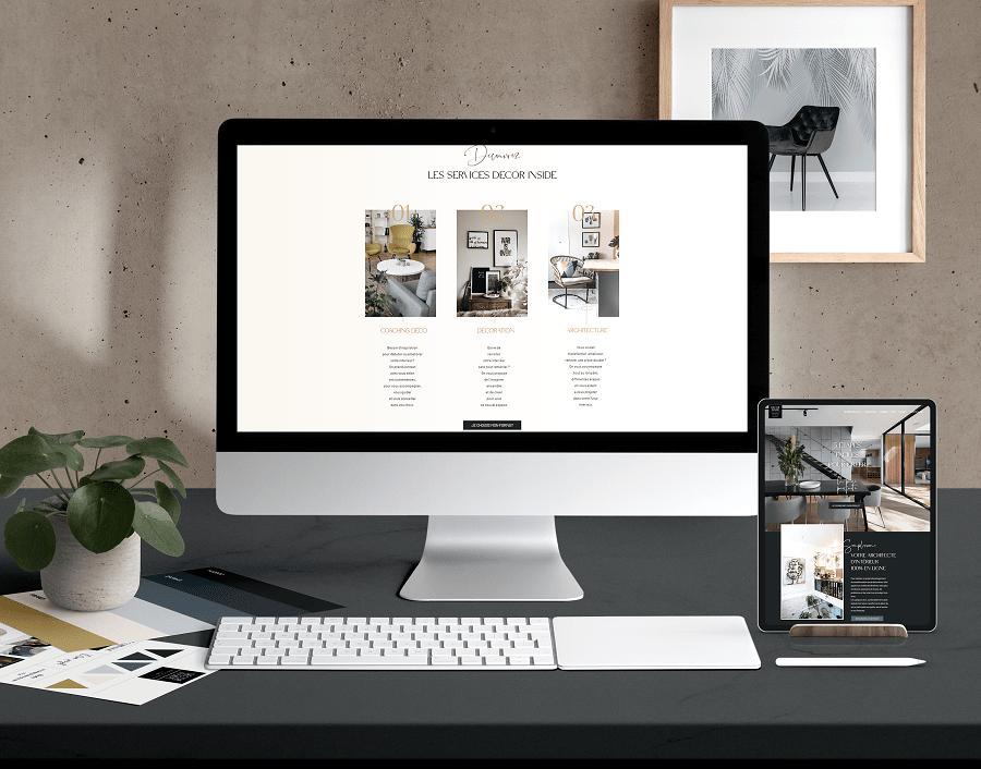 création site internet architecte d'interieur mobile