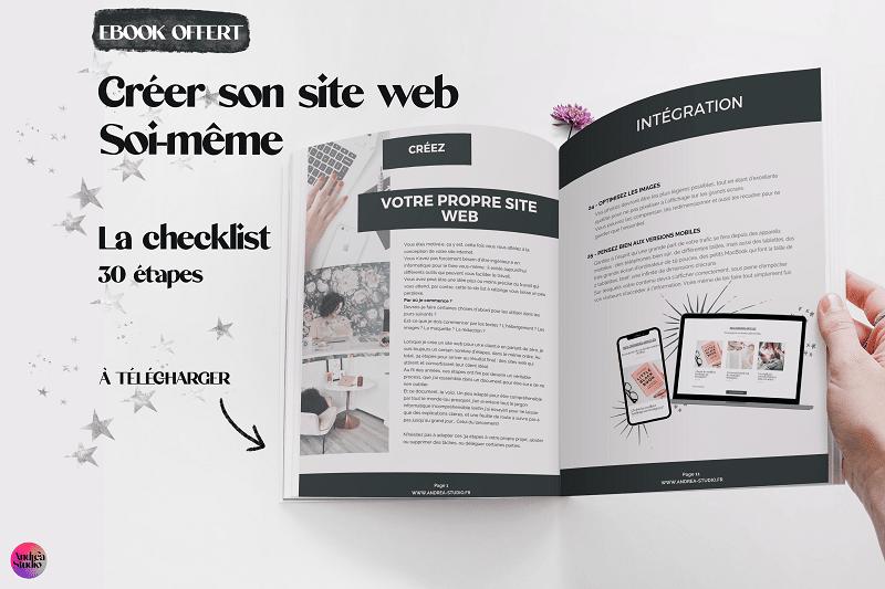 créer son site web soi même - ebook offert